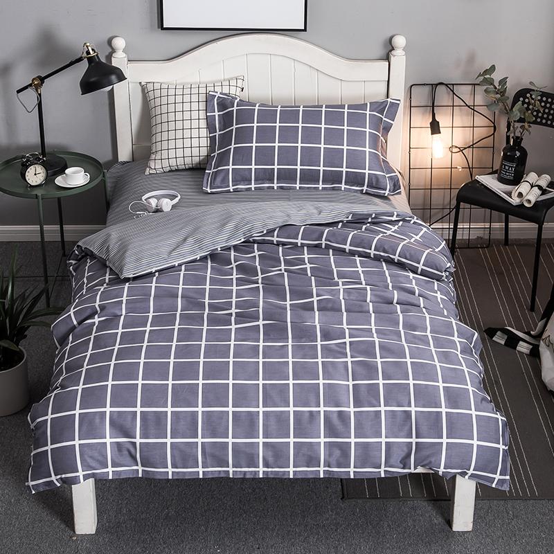 北極絨 全棉單人床上三件套 學生宿舍床單被套三件套 單人1.2米床  光影 150x200cm