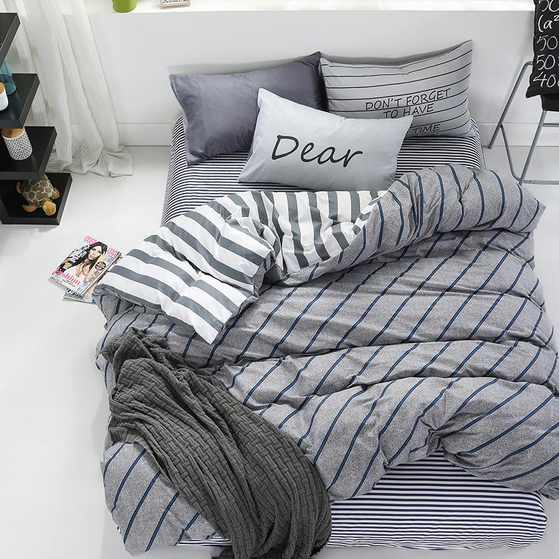 九洲鹿 套件家纺 全棉高支床上用品斜纹印花双人四件套 床单被套 风尚流年 1.5/1.8米床 200*230cm