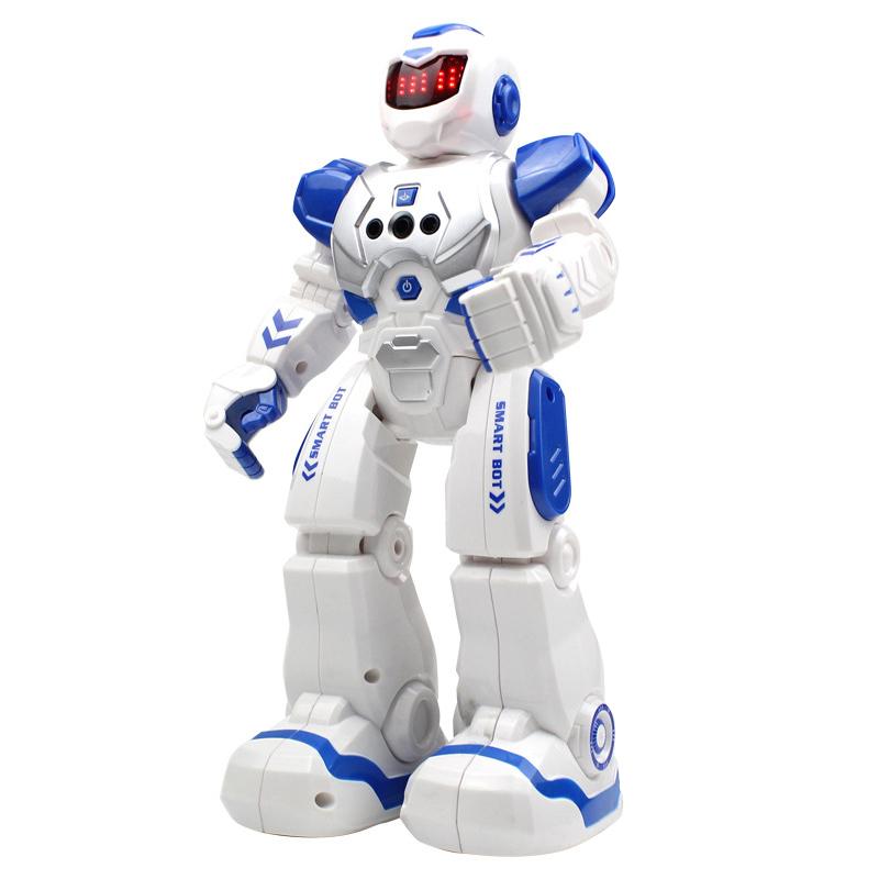 爸爸妈妈(babamama)智能机器人 无线遥控电动机器人儿童玩具 可充电行走跳舞唱歌感应机器人 P822
