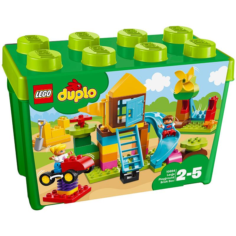 乐高 玩具 得宝 DUPLO 2岁-5岁 我的?#21355;?#22330;创意积木盒 10864 积木LEGO