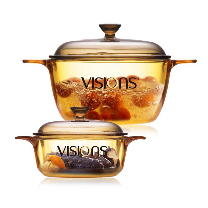 康寧VISIONS 0.8L+1.5L晶彩透明鍋二件套VS-0815/JD