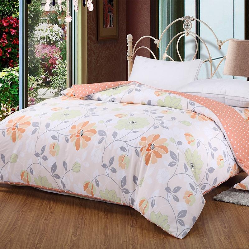 艾薇 床品家纺 全棉被罩单件双人纯棉被套200*230(夏日暖阳)