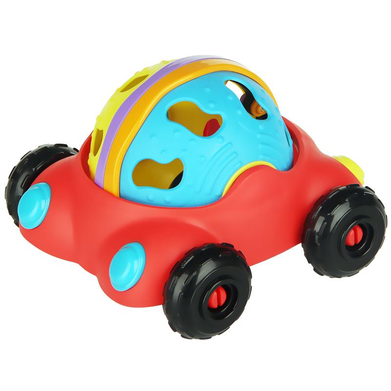 派高乐(Playgro)儿童玩具益智  嘀嘀彩虹车 仿真车可拆卸手抓摇铃球 澳大利品牌 12个月以上