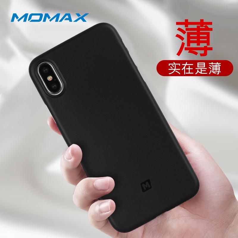 摩米士iPhoneX/10手机壳苹果X/10手机保护套5.8英寸手机套PP材质纤薄保护套实黑