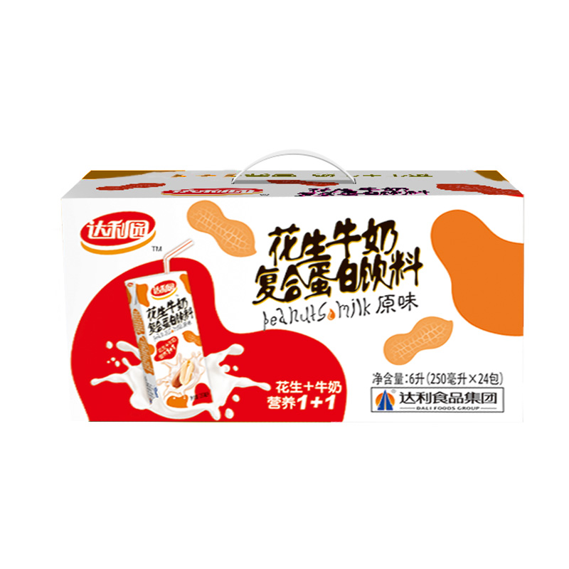 达利园花生牛奶复合蛋白饮料 原味250ml*24 整箱 (新老包装随机发)