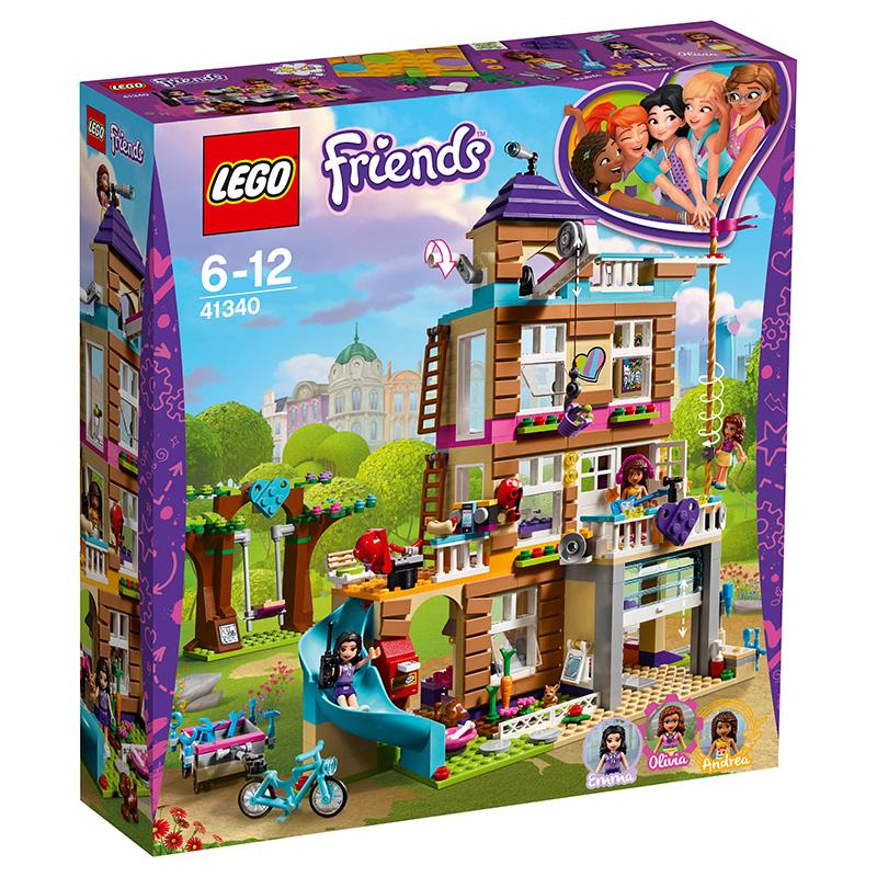 乐高 玩具 好朋友 Friends 6岁-12岁 心湖城友情俱乐部 41340 积木LEGO