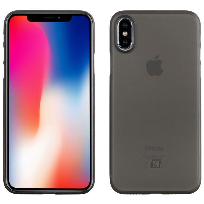 摩米士iPhoneX/10手机壳苹果X/10手机保护套5.8英寸手机套PP材质纤薄保护套透黑