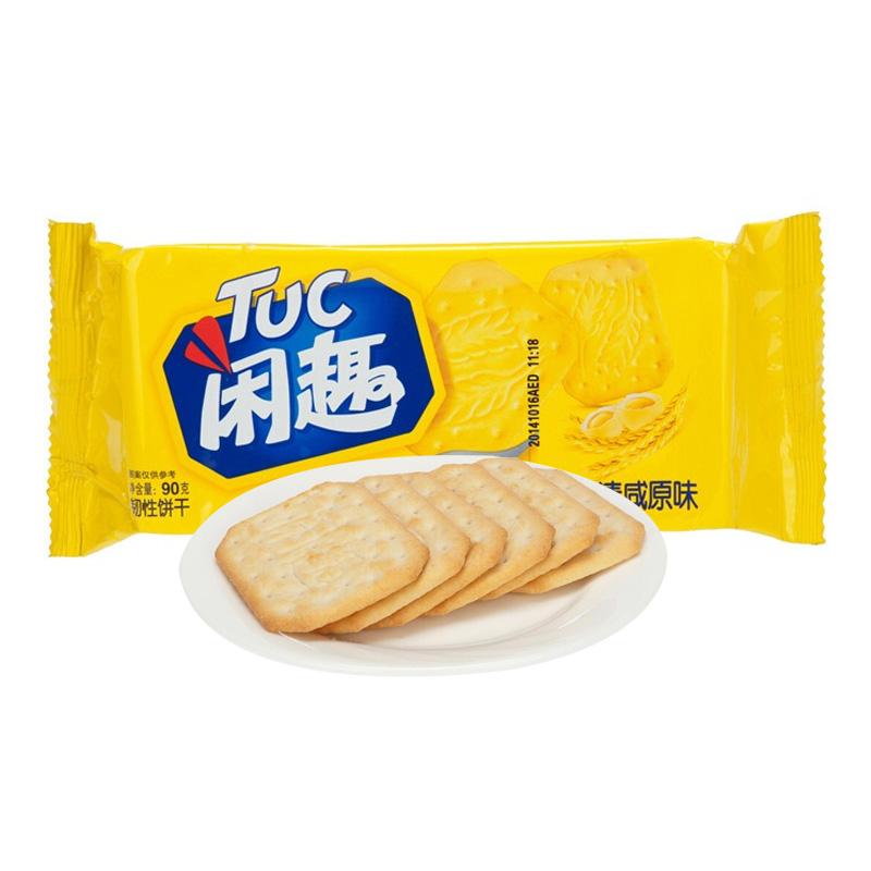 閑趣 自然清咸原味餅干咸味零食90g (新老包裝隨機發貨)