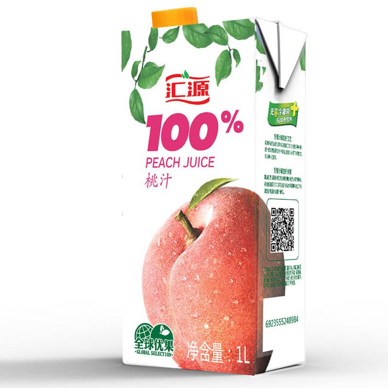 匯源 果汁 青春版100%桃汁 1L*5盒