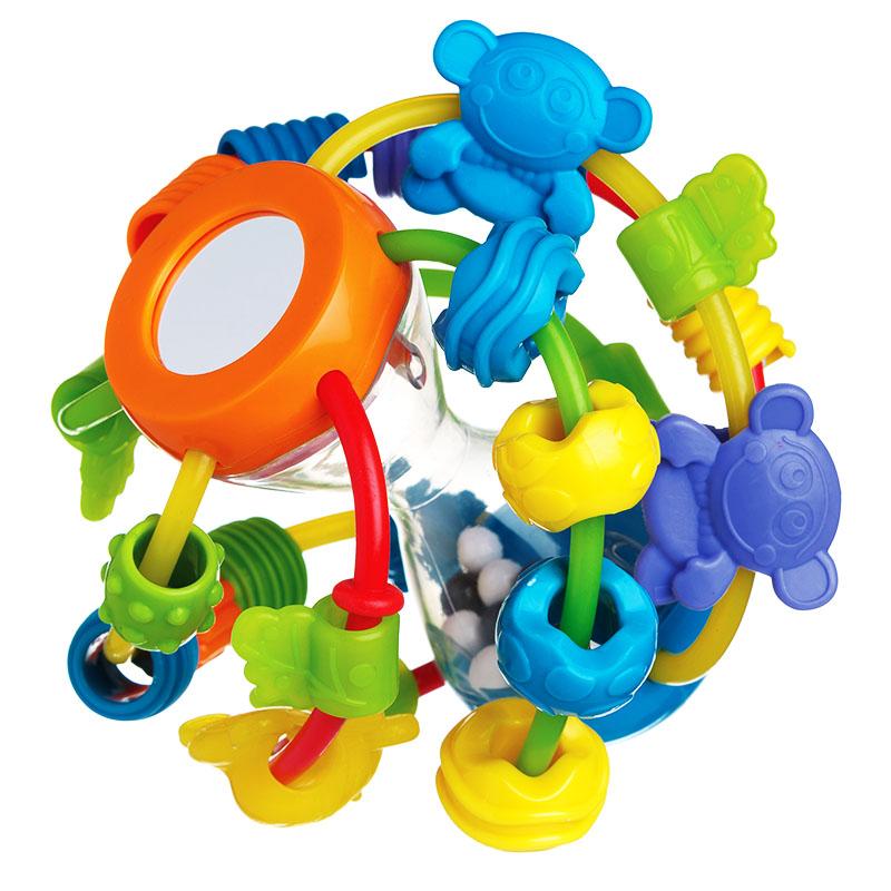 Playgro派高乐 婴幼儿宝宝摇铃玩具 手抓球小猴仔牙胶沙漏球  澳大利亚进口 6个月以上