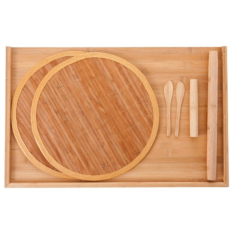 双枪(Suncha)砧板 大号饺子板 擀面板揉面板擀面杖饺子帘套装五件套 ZB6916