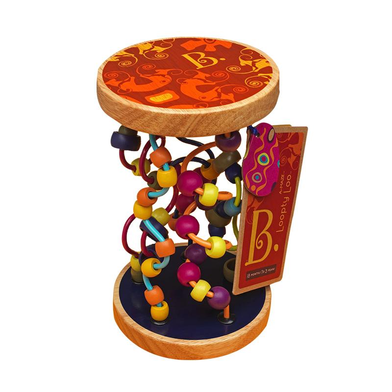 B.Toys 比樂 露露迷宮木制繞珠玩具 軌道串珠 感官訓練 早教 18個月+ BX1155Z