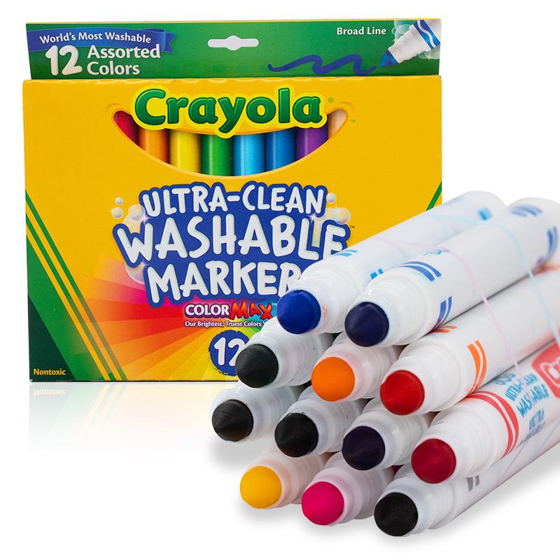 绘儿乐(Crayola)12色粗头儿童水?#26102;士?#27700;洗 58-7812