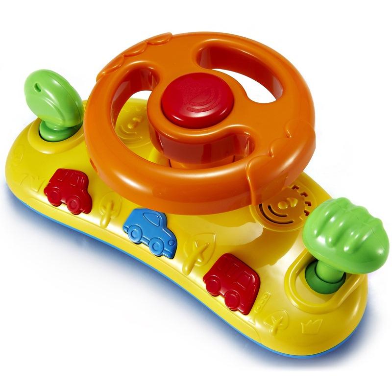 澳贝(AUBY) 益智玩具 快乐方向盘 婴幼儿童早教启智仿真模拟汽车游戏 463416DS