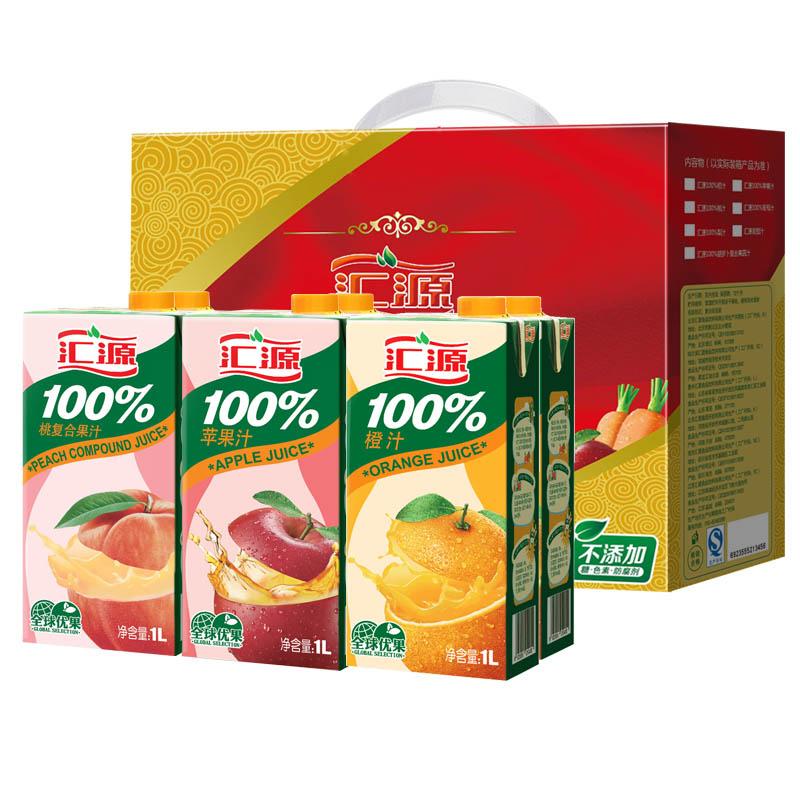 汇源100%果汁1L*6盒 经典礼盒
