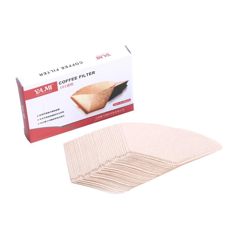 亚米(Yami)102咖啡扇形滤纸 YM2804 2-4人份