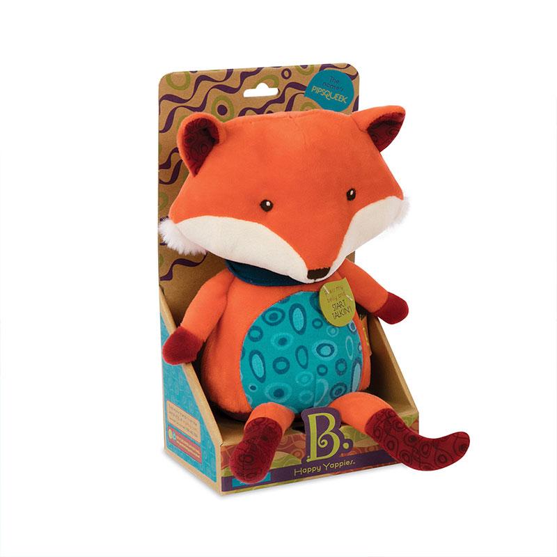 B.Toys 比乐 会说话的狐狸 发声玩具 可爱毛绒玩具 安抚抱枕哄睡 生日礼物 儿童早教 3岁+ BX1513Z
