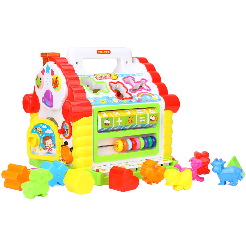 汇乐玩具(HUILE TOYS)早教益智 趣味小屋 婴幼儿学前玩具积木电子琴 739 (颜色随机)