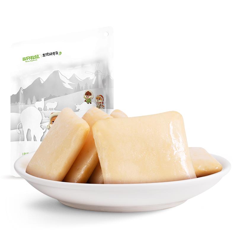 三只松鼠 ?#31995;?#40060;豆腐原味豆腐?#23578;?#38386;零食小包装豆干豆皮180g/袋