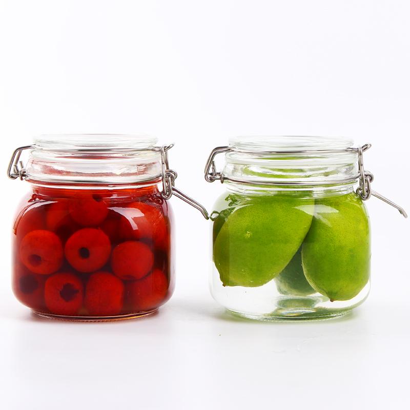 貝特阿斯(BestHA)阿瑞斯系列 無鉛玻璃密封罐兩件套 儲藏瓶 儲物罐 保鮮罐(方形750ml*2)