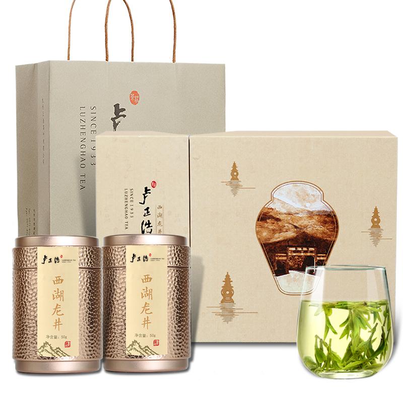 盧正浩 茶葉綠茶 明前特級西湖龍井茶(國色天香禮盒 301122)
