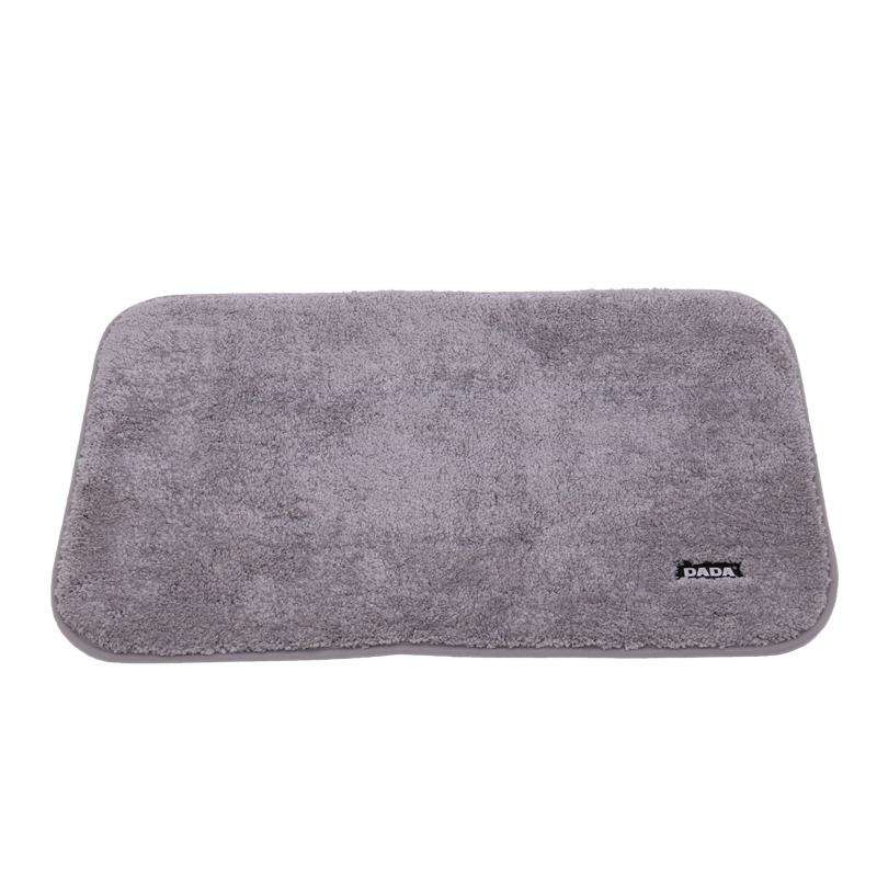 DADA 大达地垫脚垫门垫进门卫浴卫生间浴室地毯吸水脚垫防滑垫卧室地毯50*80cm灰色