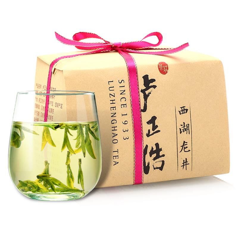 卢正浩 茶叶绿茶 明前精品西湖龙井茶(浩字 301215)150g