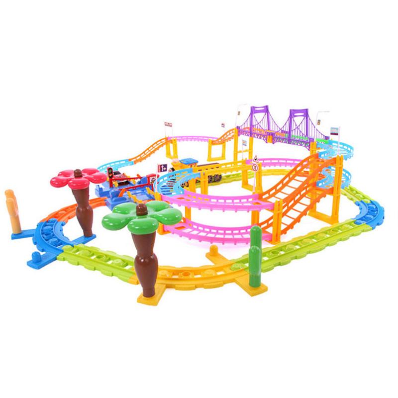 贝恩施(beiens)益智儿童玩具 积木电动轨道火车3488组合装