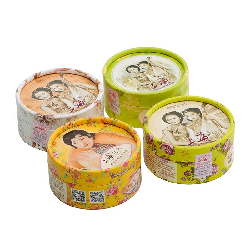 上海女人花好月圓禮盒雪花膏4件套禮盒(雪花膏80g*4隨機發貨)