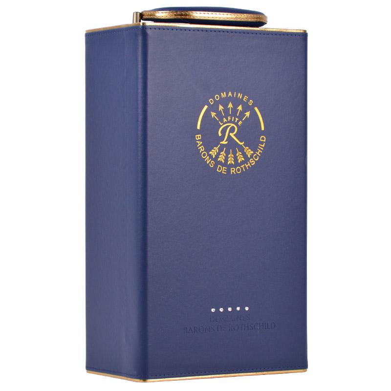 法国进口红酒 拉菲(LAFITE)传奇波尔多AOC干红葡萄酒 经典蓝色双支礼盒 750ml*2瓶