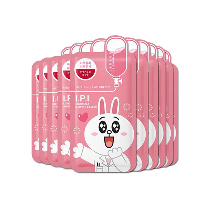 美迪惠爾Mediheal戀朋清澈透亮水潤卡通動物面膜 27ml*10片 粉色可妮兔(韓國進口)