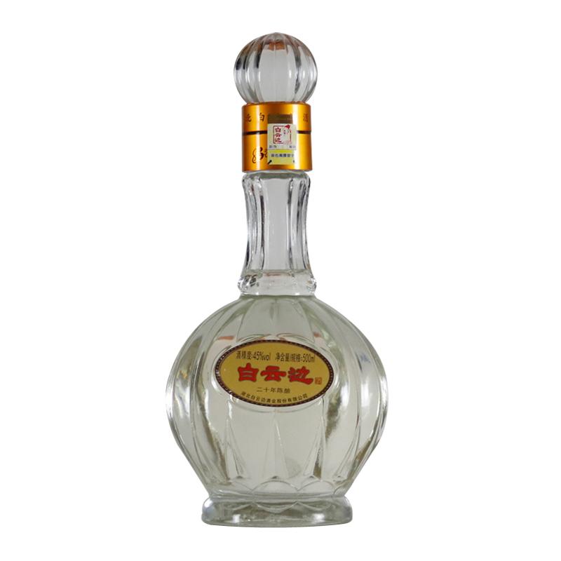白云边 白酒 二十年陈酿 浓酱兼香型 45度 500ml