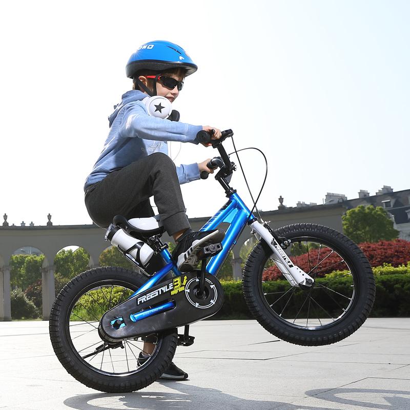 優貝(RoyalBaby)兒童自行車 小孩單車男女童車 寶寶腳踏車山地車 3歲5歲7歲9歲 表演車 16寸 藍色