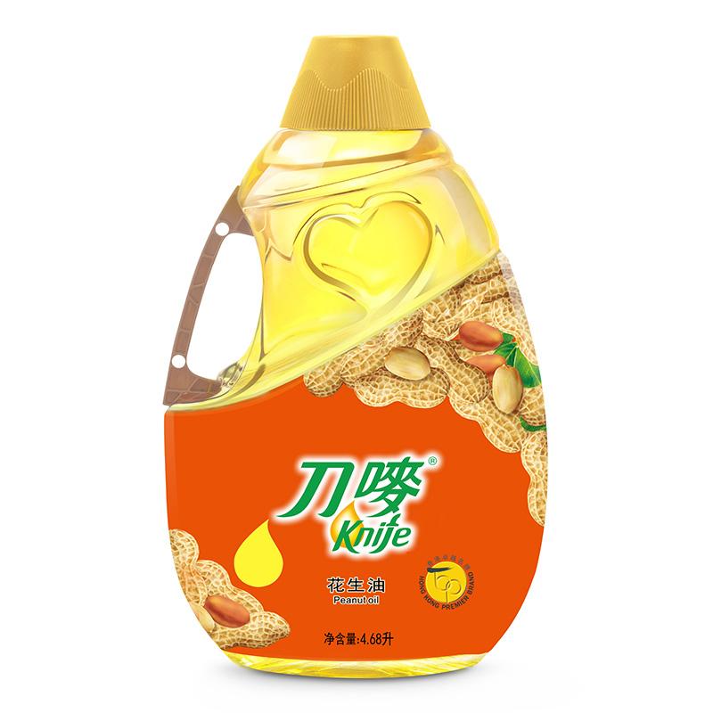 刀嘜 Knife 食用油 壓榨一級 花生油4.68L 香港品質