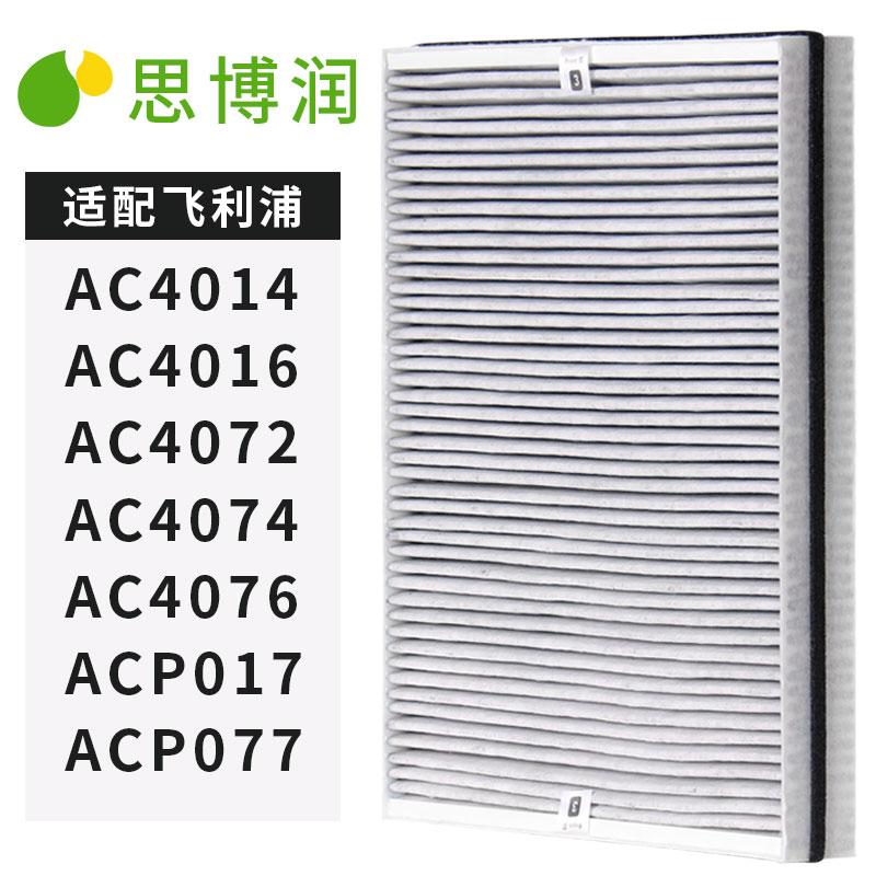 思博潤(SBREL) 德國進口濾材 配飛利浦空氣凈化器AC4076過濾網濾芯 適用飛利浦AC4014 AC4016 AC4147(升級版)