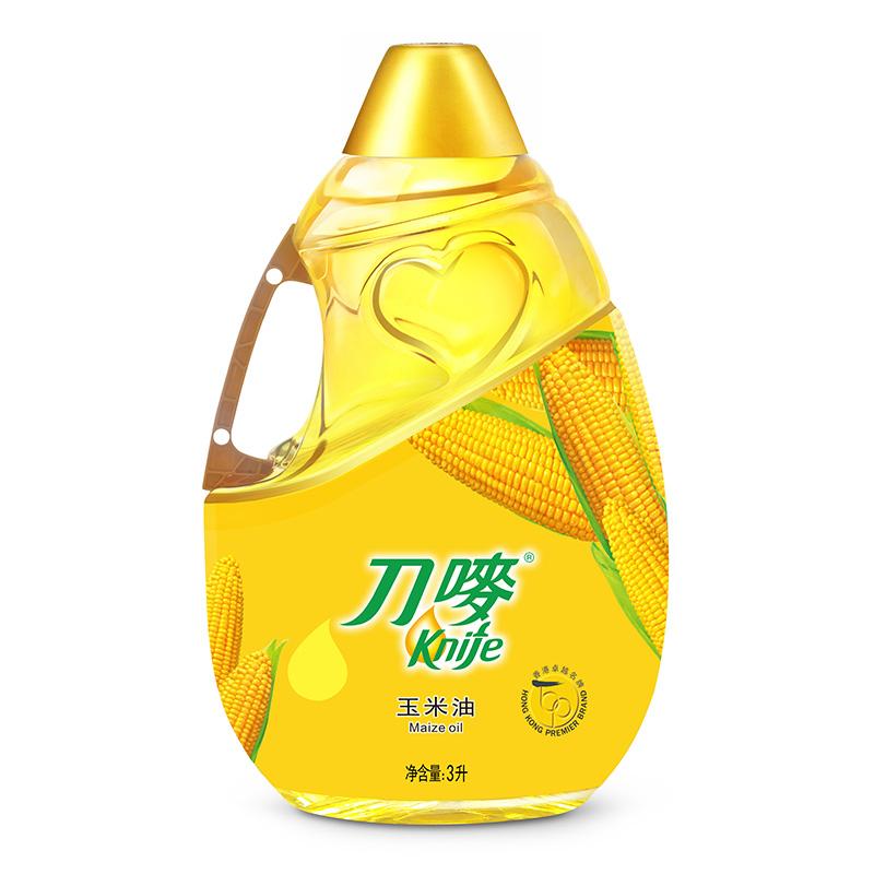 刀嘜 Knife 食用油 壓榨一級 玉米油3L 香港品質(新舊包裝隨機發放)