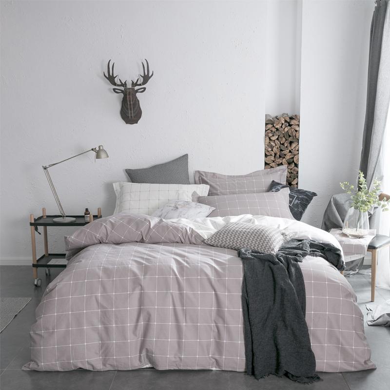 佳佰 被套被罩 单件 全棉斜纹 品格宣言适用1.8米双人床(咖) (220*240)