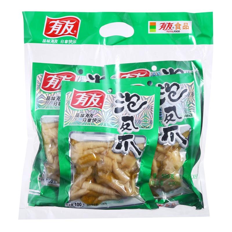 有友 鸡爪 休闲零食 肉干肉脯 泡椒凤爪 山椒味100g(5袋装)