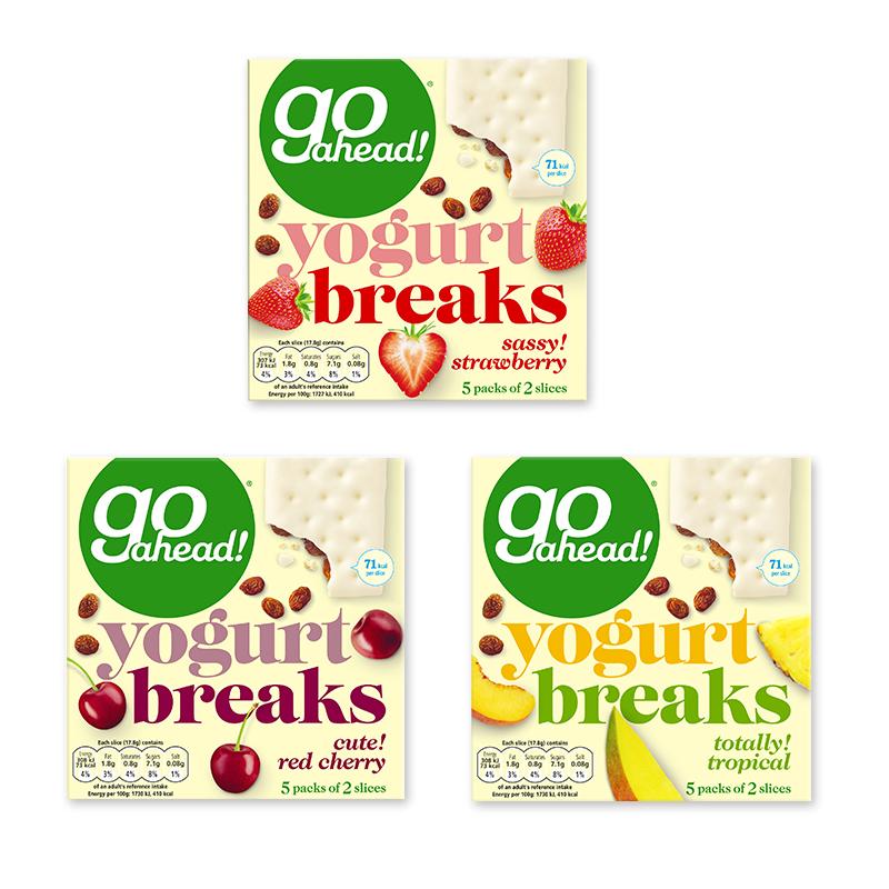 英国进口 果悠萃(go ahead)酸奶涂层水果夹心饼干(草莓/?#36947;?#23376;/热带水果)  组合装534g