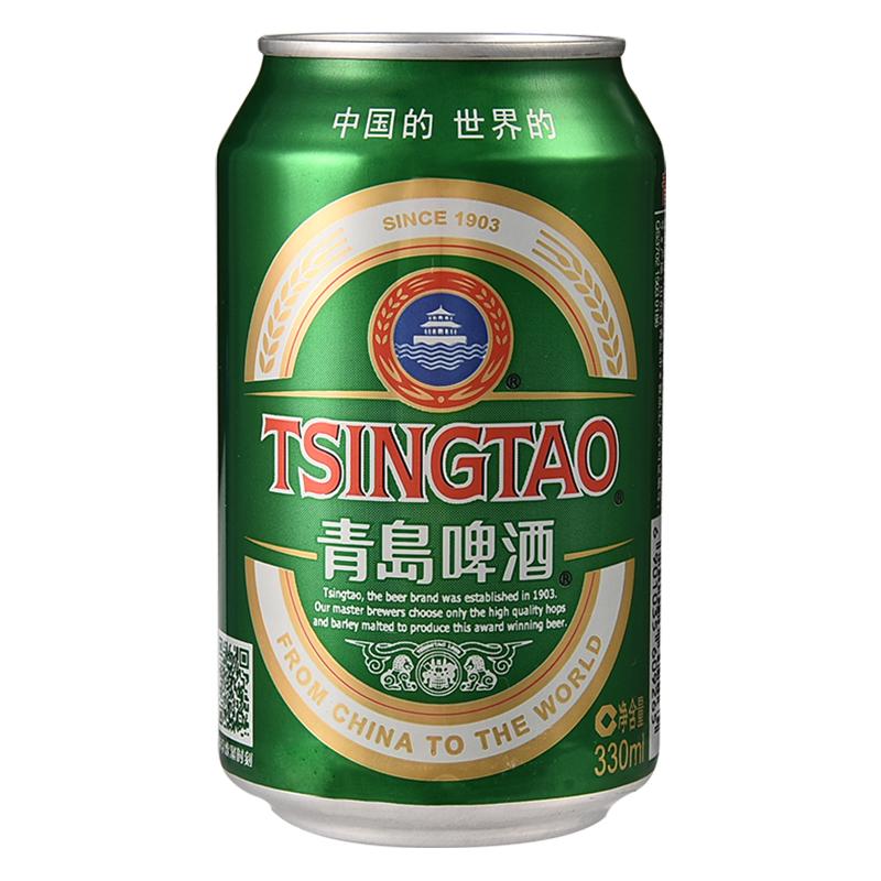 青岛啤酒(Tsingtao)经典11度330ml*24听 整箱装 传世精酿 口感醇厚