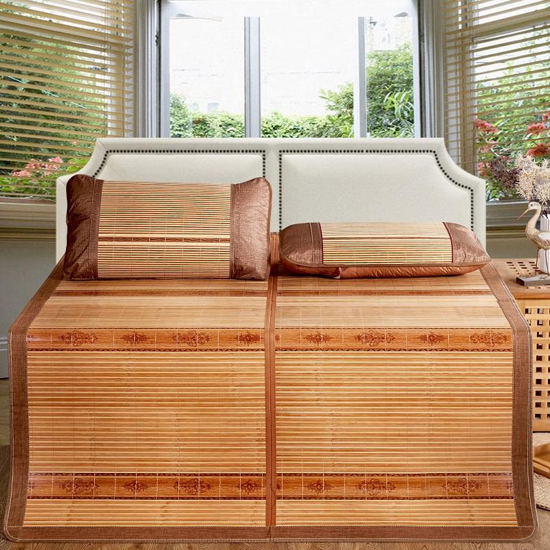 北極絨 Bejirog 涼席 竹席夏天空調席可折疊單雙人席子 木紋席 1.5米