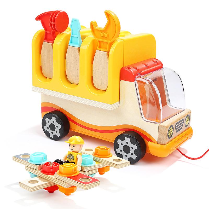 特寶兒(topbright)螺母工具車兒童玩具男孩女孩益智早教寶寶玩具