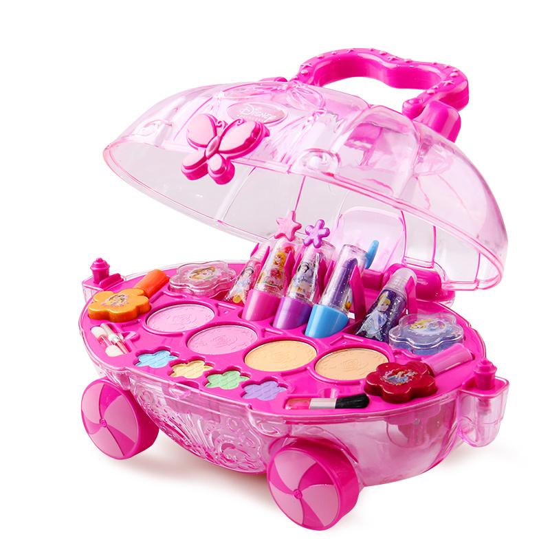 迪士尼Disney 兒童化妝品玩具公主彩妝套裝 女孩化妝盒兒童節禮物 過家家益智玩具白雪化妝車