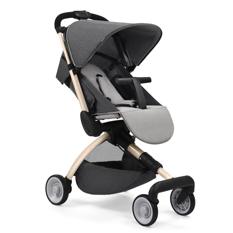 法国babysing高景观婴儿推车 可坐可躺轻便折叠便携避震儿童宝宝推车四季通用可上飞机 Hgo 燕尾灰