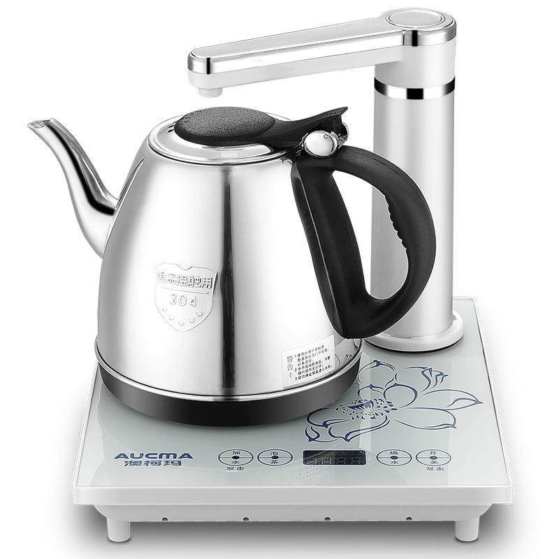 澳柯玛(AUCMA)电热水壶 304不锈钢烧水壶 自动上水壶 ADK-1350H23 0.8L电水壶 白色