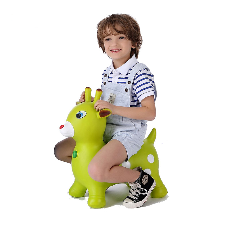 哈哈球摇摇马 儿童户外健身玩具卡通音乐跳跳马 加厚充气小木马