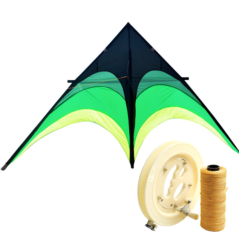 爸爸媽媽(babamama)濰坊風箏 線輪配件 兒童戶外玩具 玻璃鋼桿 2米大草原風箏 帶風箏線輪含300m線 B7020