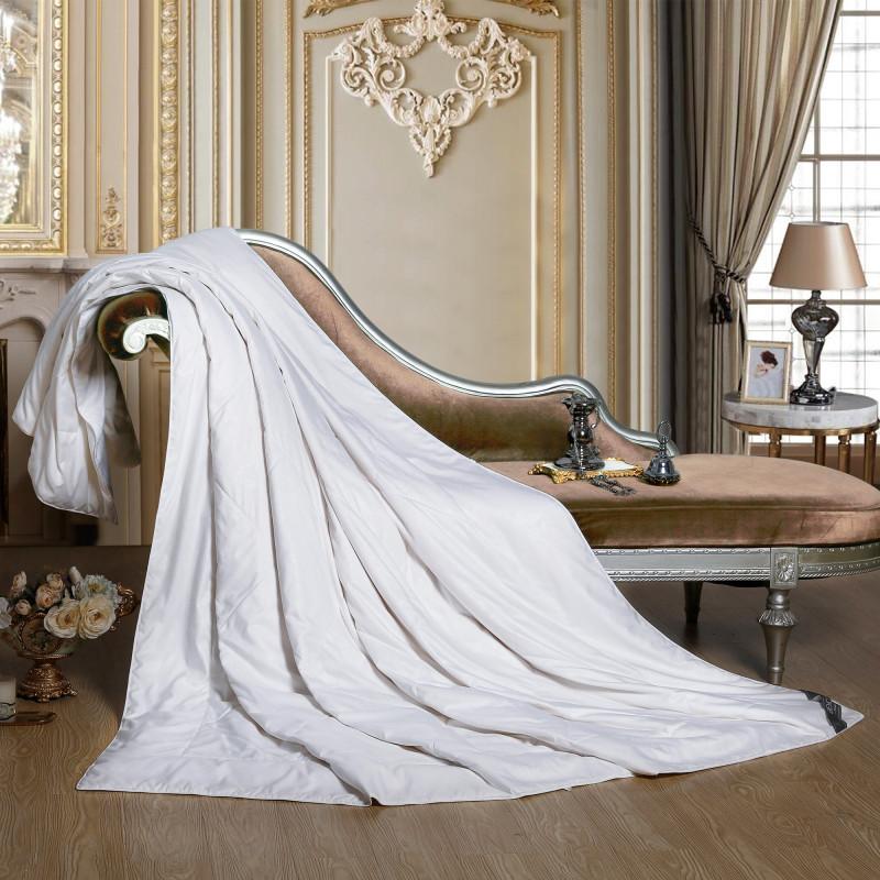 博洋家纺(BEYOND)桑蚕丝被芯 100%桑蚕丝双人加大纯色空调被 恬雅玫瑰桑蚕丝夏被(白)200*230cm