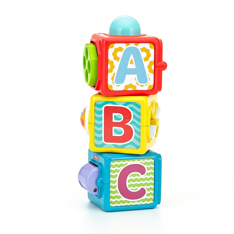 费雪(Fisher-Price)早教益智玩具 缤纷叠叠方积木 DHW15