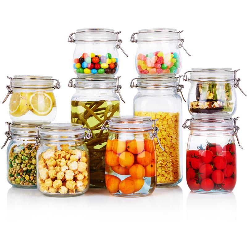 喜碧(Scybe)多功能玻璃收纳储物密封罐储藏瓶 10件套
